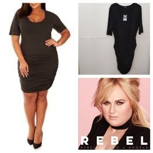Rebel Wilson x Angels | Ruched Bodycon Dress NWT